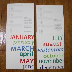 Two Free 2011 Linear Calendars for Download: the Type Calendar & the Children's Books Calendar
