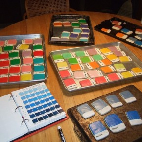 Two Views of Pantone: Cookies and Makeup Concepts