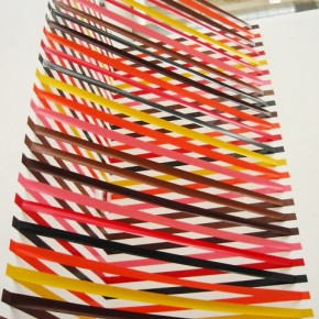 Colorful Geometric Tape Art