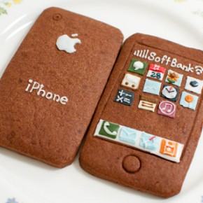 Sweet Japanese iPhone Cookies with a Homemade Touch