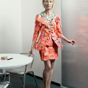 Office Attire Made From Office Supplies