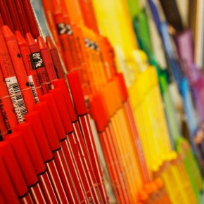 20-Foot Art Store Installation Made of Art Supplies