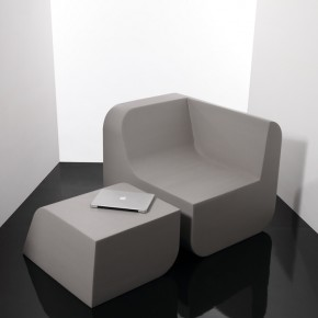 Dual Cut: Minimalist Foam Block Furniture