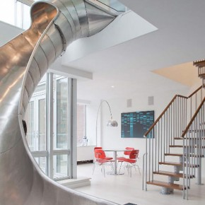 Steel Slides: The Best Way to Connect NYC Penthouses