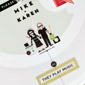Paper Record Player Wedding Invitation
