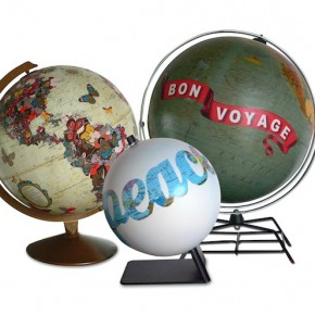 ImagineNations: Recycling Vintage Globes with Art