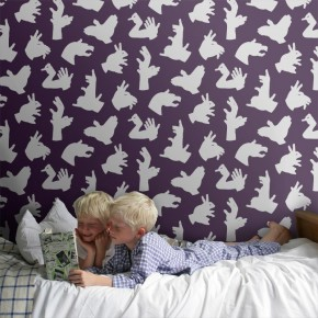 Hand Made: Shadow Animal Wallpapers for Kids