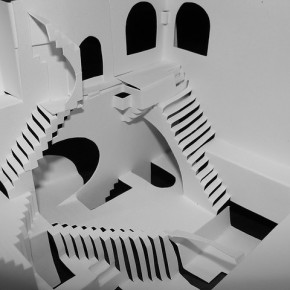 DIY Paper: Cut and Fold Escher