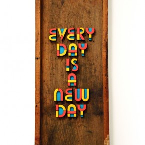 Colorful Painted Wood Typography