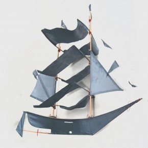 Denim Pirate Ship Kite for Kids