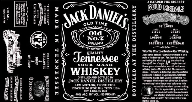Jack Daniels Bottle Label Template Related Keywords & Suggestions ...