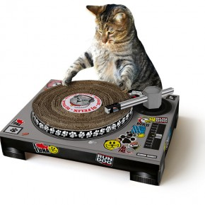 Cat Scratch: Turntable for Your DJ Cat