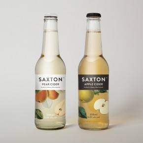 Saxon Fruit Ciders: Simple, Understated, and Elegant Packaging