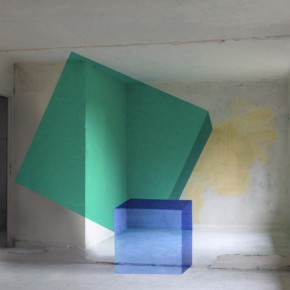 Green Sqwear & More: Clean Geometric Street Art Perfection