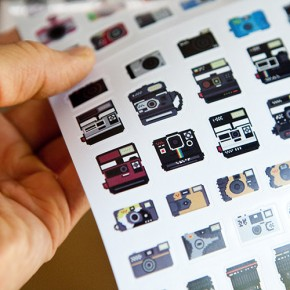 Pixelated Camera Collection, Now As Stickers