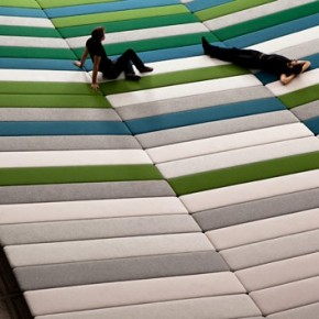 Textile Field: Covering A Museum Floor with Foam and Fabric