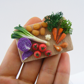 Unbelievably Tiny Foodscapes: Miniature Food Made of Clay at a 1:12 Scale
