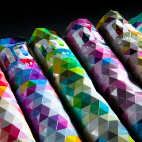 Bendable Print: A Magazine Cover That Ripples With Colorful Triangles