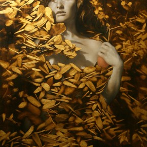 Sensual Paintings Gilded with Flecks of Gold and Silver Leaf