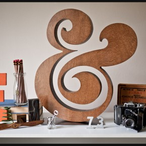 Gorgeous & Richly Crafted Wooden Ampersand in Perfect Balance