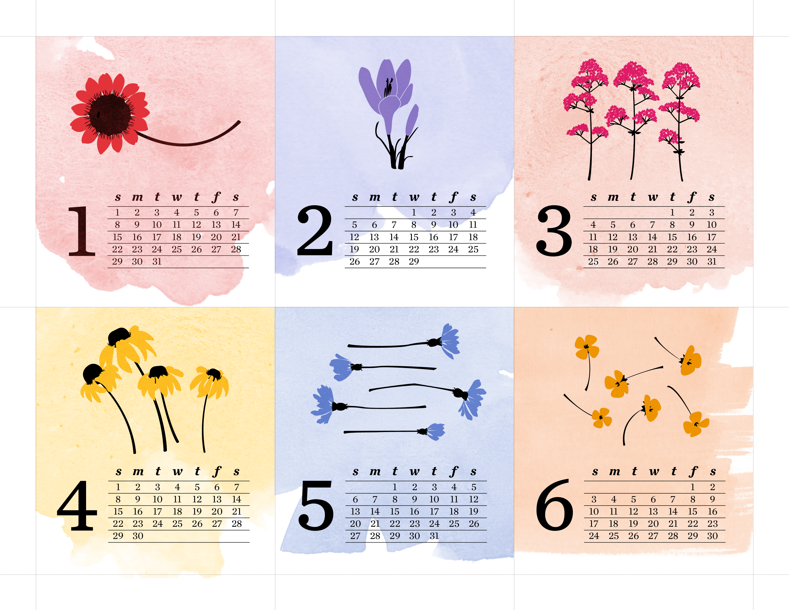 jeanniejeannie.comFree Downloadable 2012 Calendar: The Wildflower ...