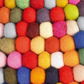 Adorable Felted Ball Rugs, Inspired by Candy