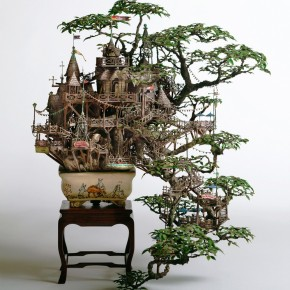 Tiny Elaborate Bonsai Treehouses