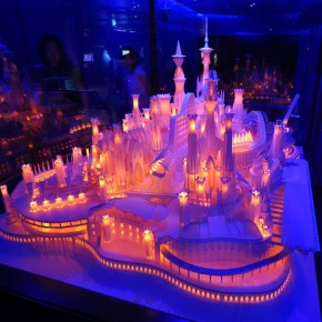 Incredible, Intricate, Glowing Paper Castle