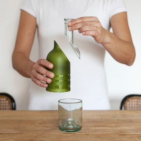 Pure-Bottle: Recycling One Glass Bottle Into Three Beautiful Objects