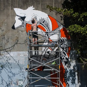 3-Story Tribal Fox: Spectacular Urban Art In Atlanta
