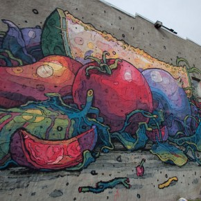 Eerie and Richly Colored Street Art by Aryz