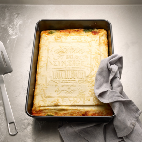 Read, Cook, & Eat Your Words: Edible Cookbook Teaches You How to Make Lasagna