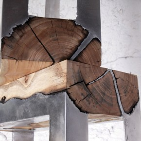Wood Casting: Rugged Furniture Made By Melding Wood And Metal Together