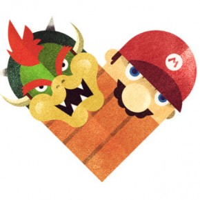 Versus/Hearts: Pairing Up Rivals In Heart Illustrations