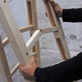 An Ingenious Foldable Ladder: The Corner Ladder