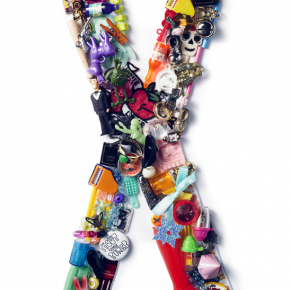 Toy Typography: Colorful Letters Made Out of Toys, Charms, and Knickknacks