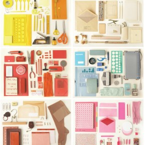 What's On Your Desk? Artfully Arranged Color Combinations of Office Supplies