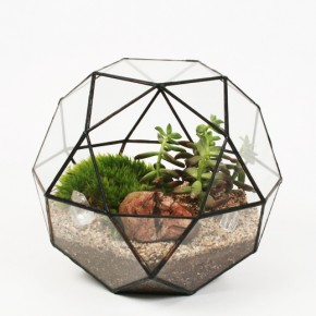 Lovely Handmade Geometric Glass Terrariums