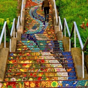 Gorgeous, Expansive Public Art: 163 Tiled Steps in San Francisco