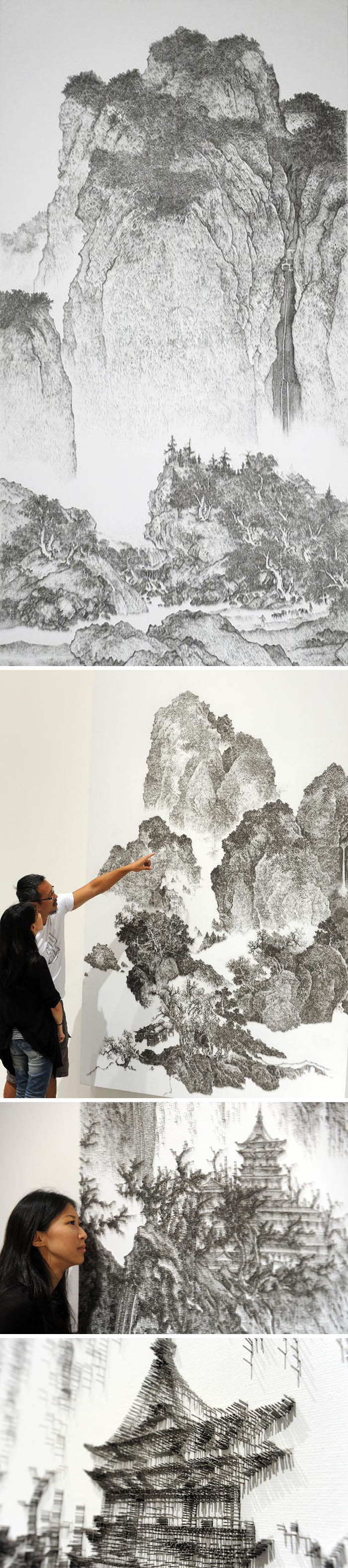 Unbelievable and unorthodox chinese art made from of tens of i prinsesfo Image collections