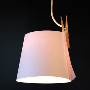 It's Only A Paper Moon: Simple Lamp Made Out Of A Clothespin & Some Paper