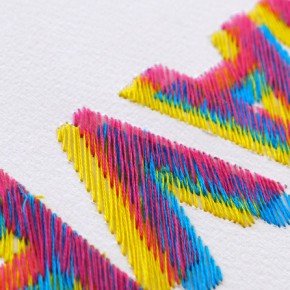 """I Could Have Done This On My Mac"": Clever Hand-stitched Typography"