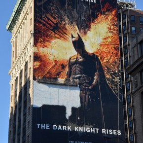 How To Paint A 150-Foot Batman Movie Poster Mural