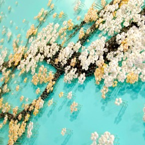 Millions of Beads, Buttons, & Sequins Pinned into Delicate Murals