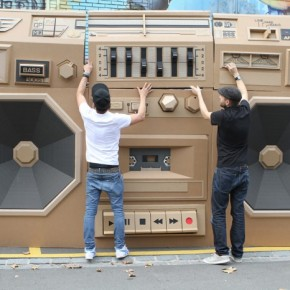 Enormous Cardboard Boombox: The Mini Ghettoblaster