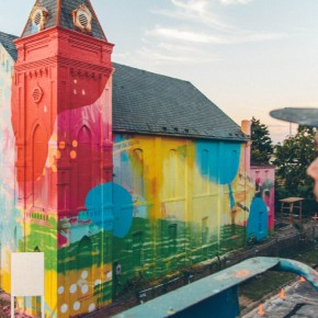 Repainting An Entire Church As An Enormous, Explosively Colorful Mural
