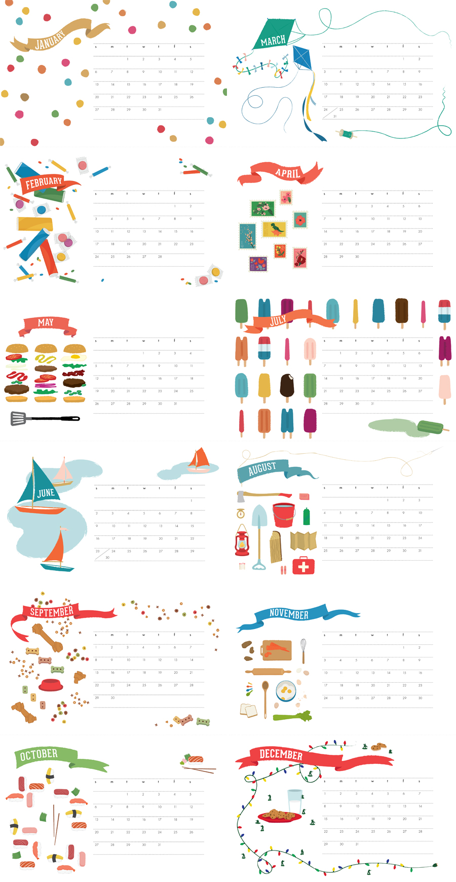 Free 2014 Printable Monthly Calendar/page/2 | Calendar Template 2016