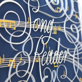 "Gorgeous Quilled Paper Reproduction of Beck's ""Song Reader"" Book Cover"