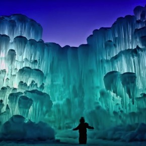 25 Feet High Ornate Ice Castles Built With Thousands of Icicles