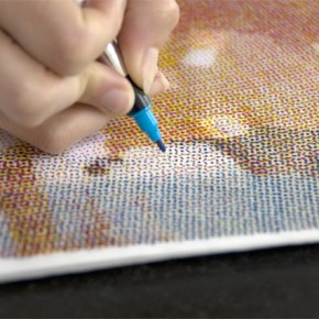 The Human Printer: Painstakingly Recreating CMYK Halftone